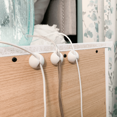 How to Easily Hide Bedside Cords