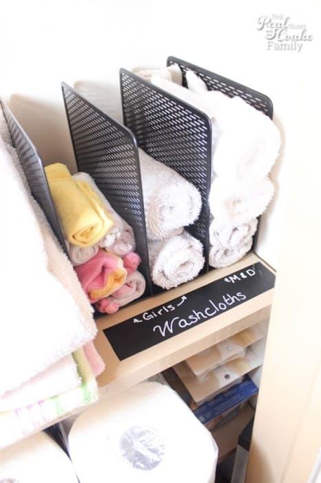 washcloth organization
