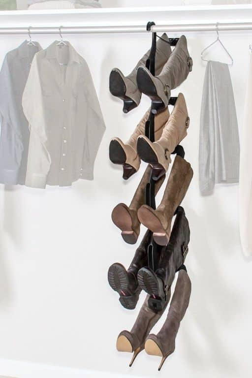 boot hanger closet organization ideas