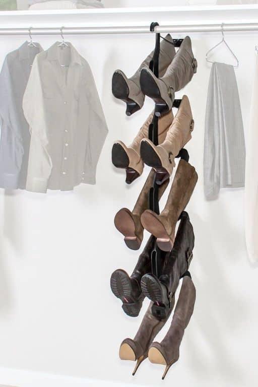 boot hanger closet organization ideas