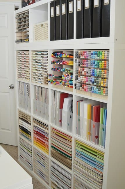 Craft Room Organization Ideas for Paper and Pens