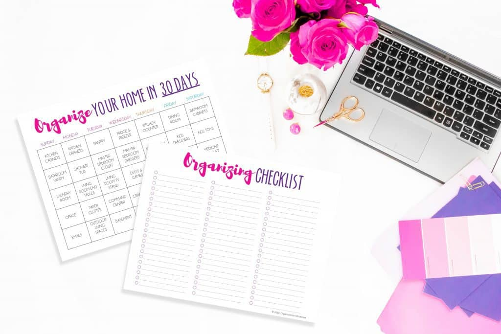 Organize your home in 30 days printable