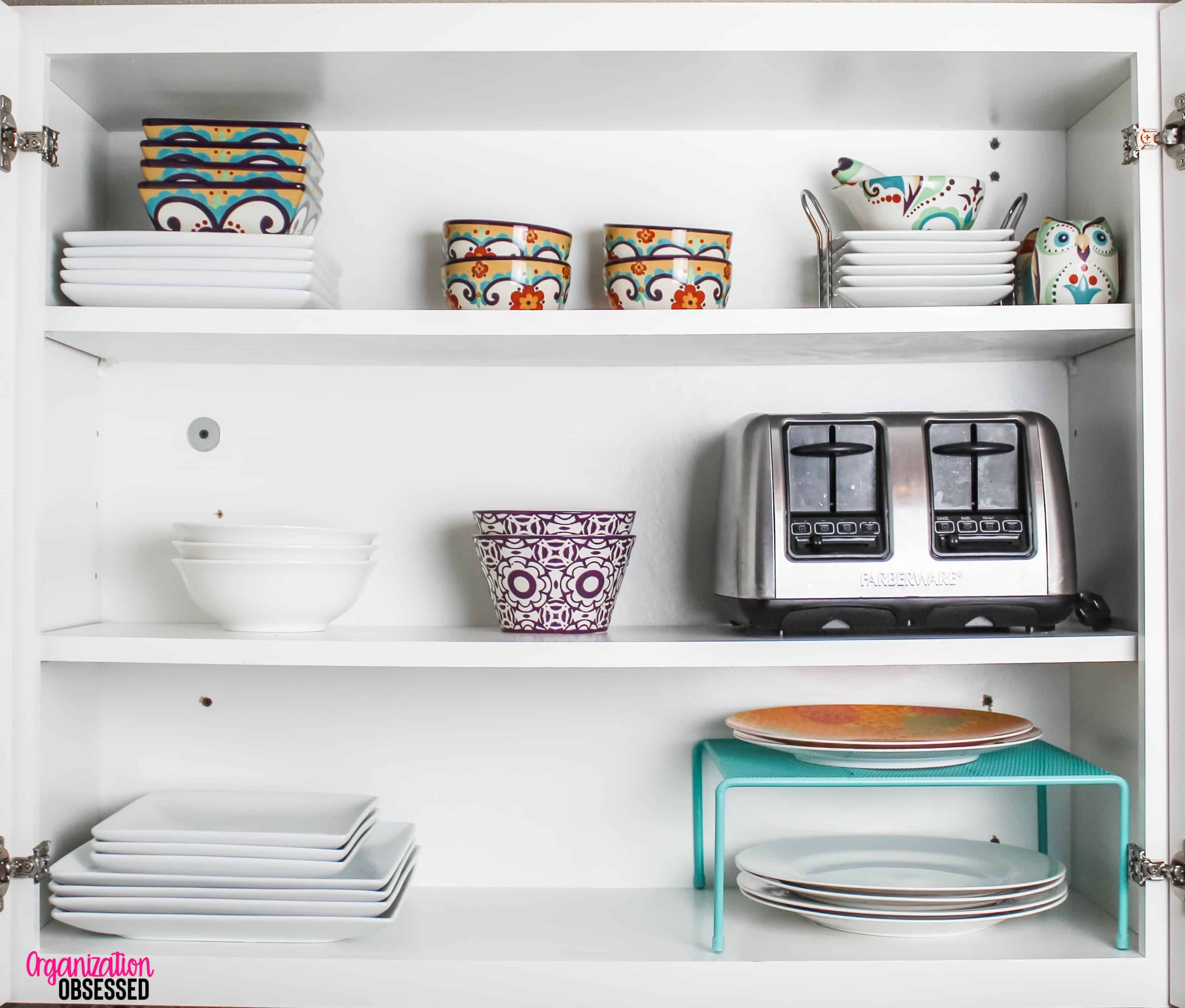 Cabinet Shelf Kitchen Organizer for less than $20