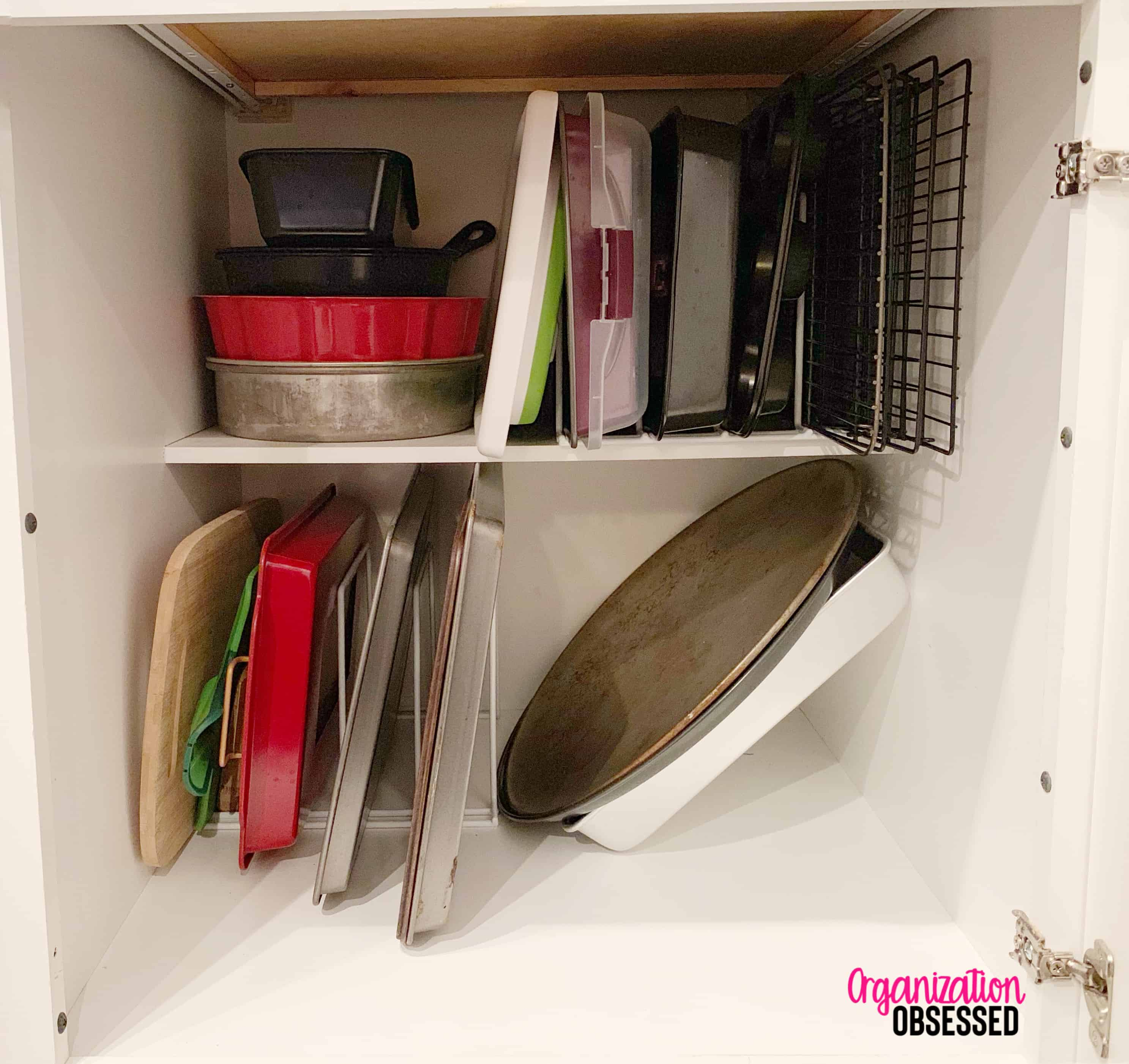 Cookie Sheet Kitchen Organizer for less than $20
